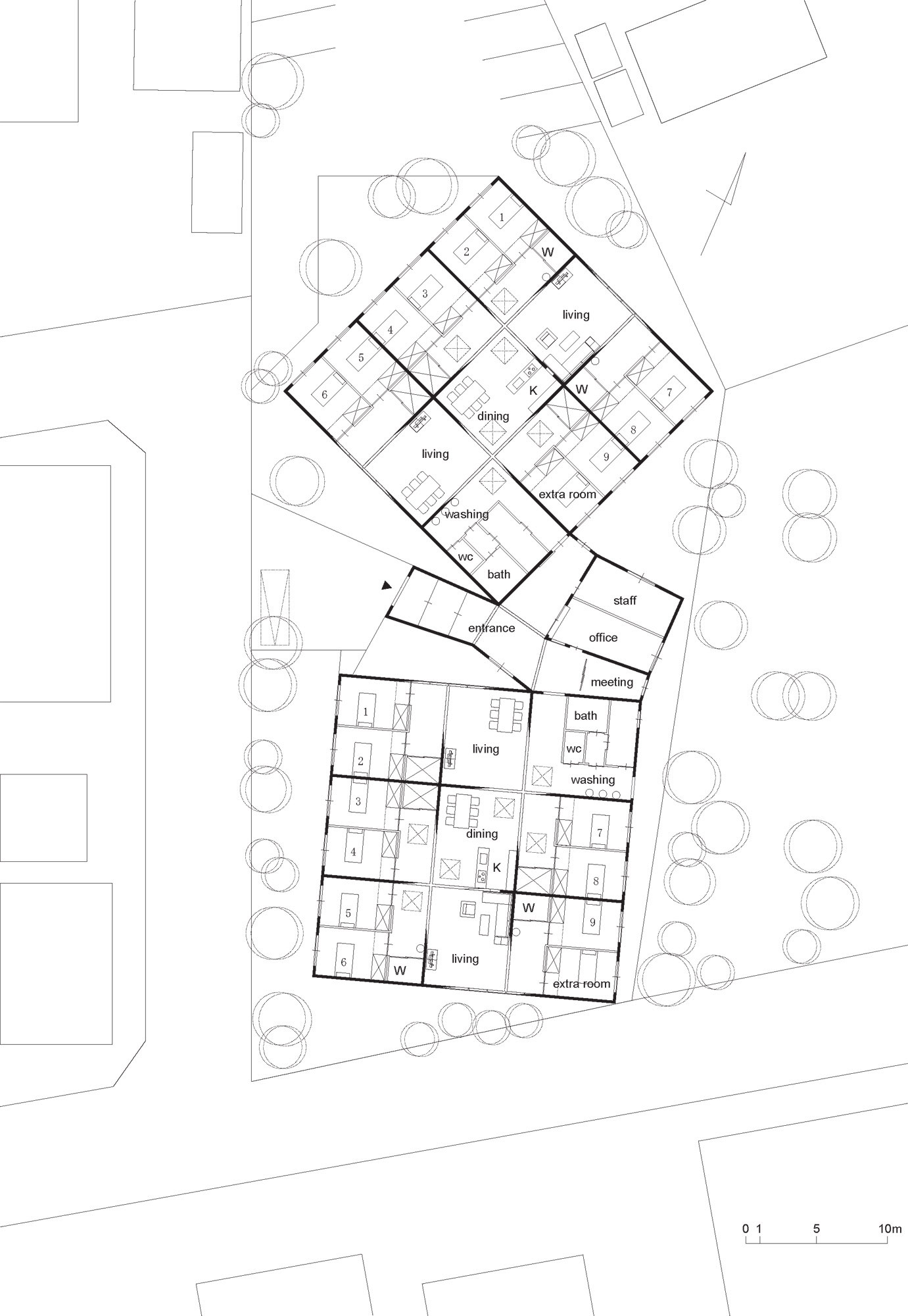 Nursing Home Layout Design 画廊 登别集合住宅 Sou Fujimoto 3