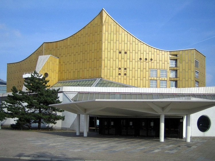 AD 经典:柏林爱乐乐团音乐厅 / Hans Scharoun, © Courtesy of Wikimedia Commons