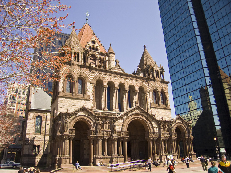 聚焦:亨利·霍普森·里查德森, Trinity Church Boston. Image © Flickr user richbs licensed under CC BY 2.0
