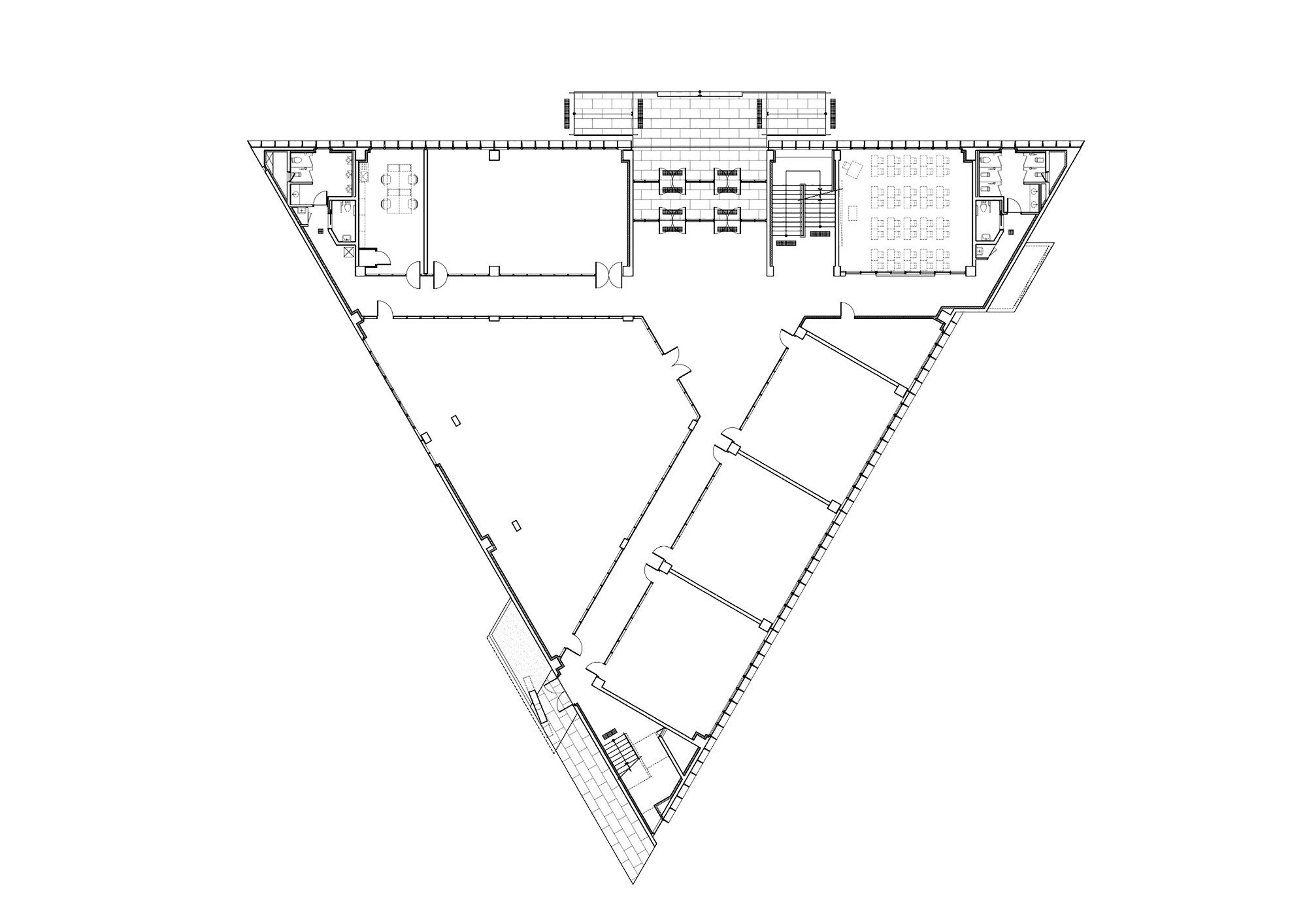 Commercial Bank Floor Plan 画廊 Dh 三角形学校 Nameless Architecture 27