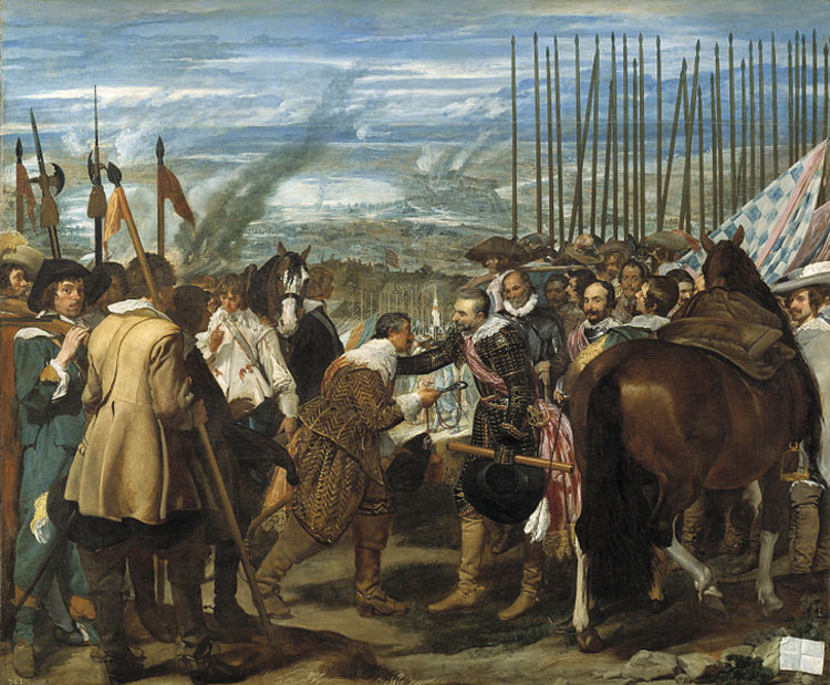 The Surrender of Breda by Diego Velázquez (1635). Image in Public Domain.