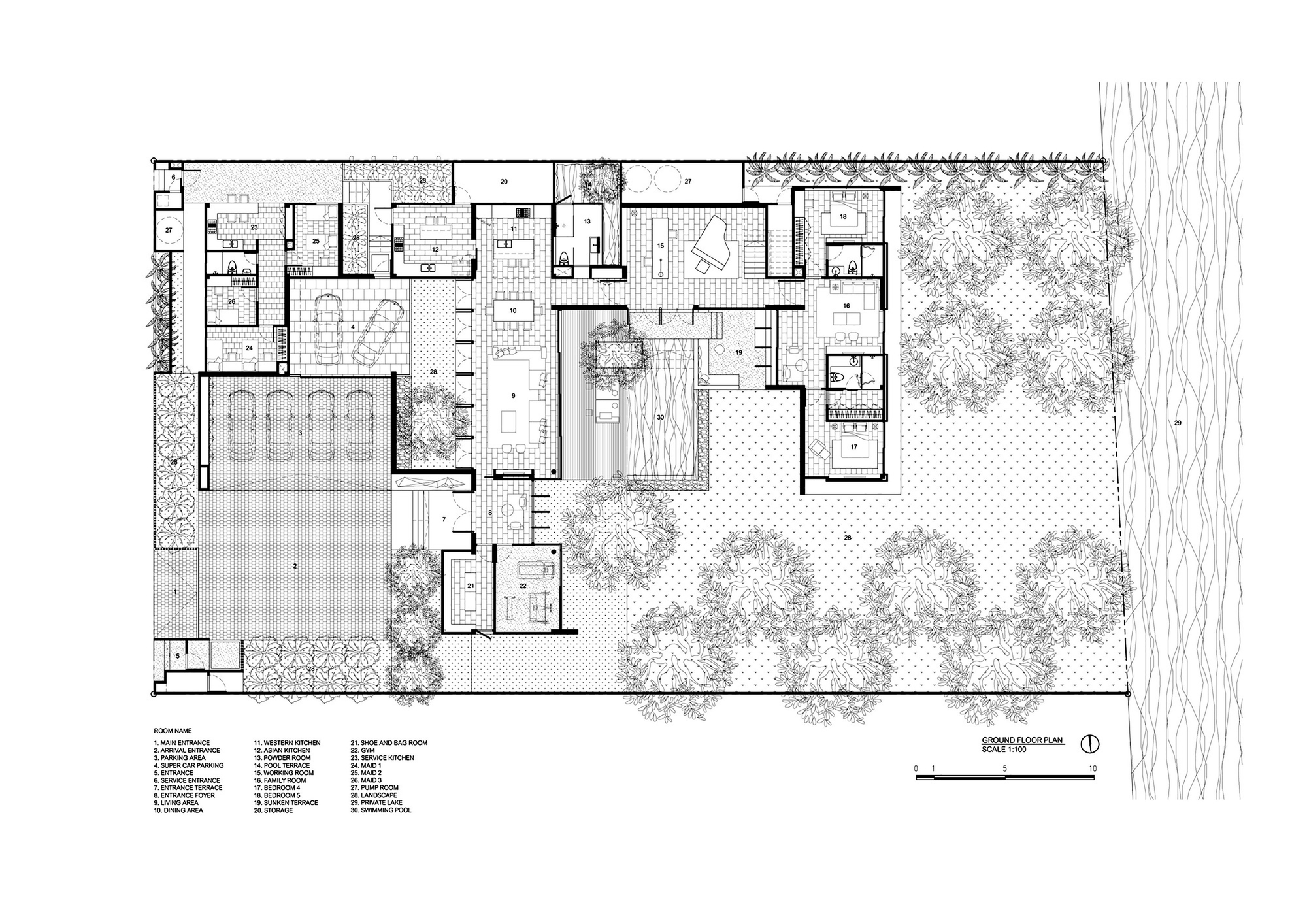 How To Draw Stairs In A Floor Plan 画廊 泰国lsr113 别墅 Ayutt And Associates Design 19