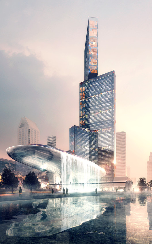 PLP 揭晓了珠三角规划中的最高建筑设计, Exterior Rendered View. Image © Luxigon