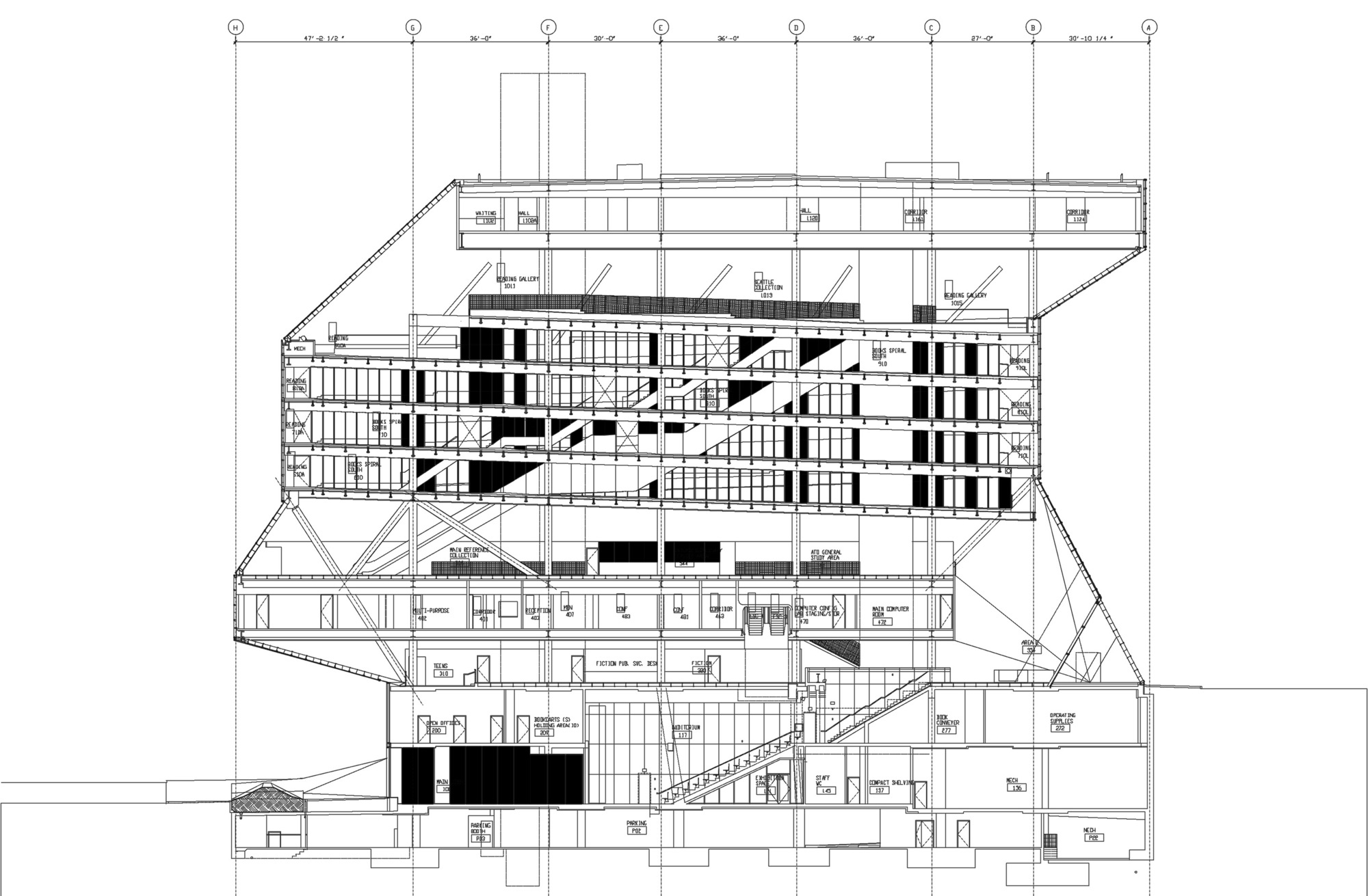 画廊 Seattle Central Library Oma Lmn 44