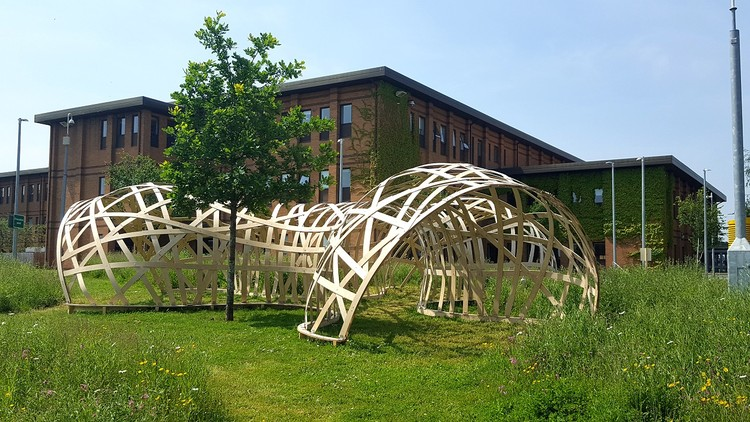 UWE Digital Design Research Unit Pavilion 2016 (西英格兰大学). 图片致谢 John Harding