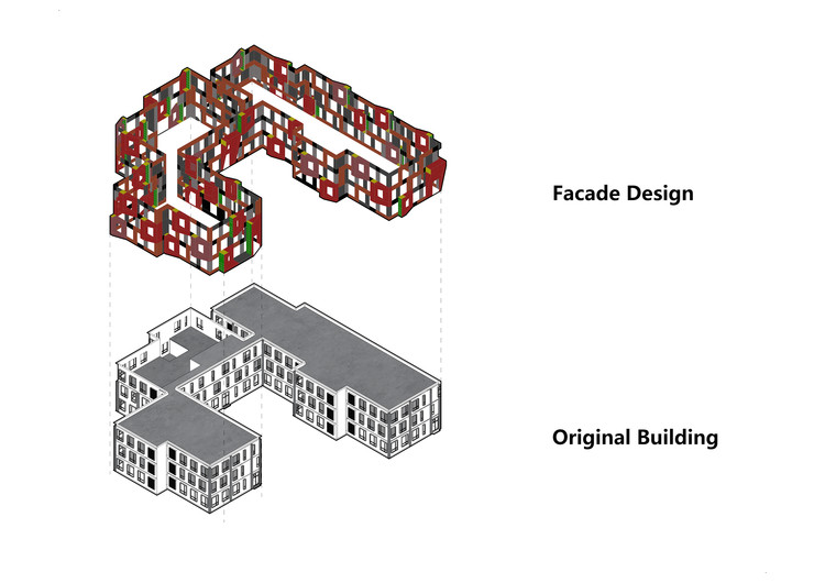 Facade isometric diagram