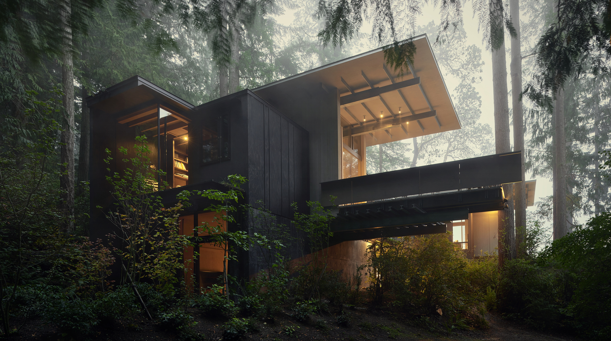 Olson kundig archdaily for Concrete log home plans