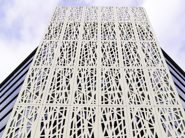 Perforated Facade Panel. Image Courtesy of ULMA Architectural Solutions
