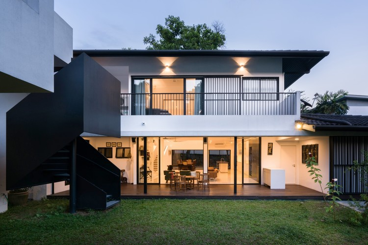 """非黑即白""住宅 Eigent House / Fabian Tan Architect, © Ceavs Chua"
