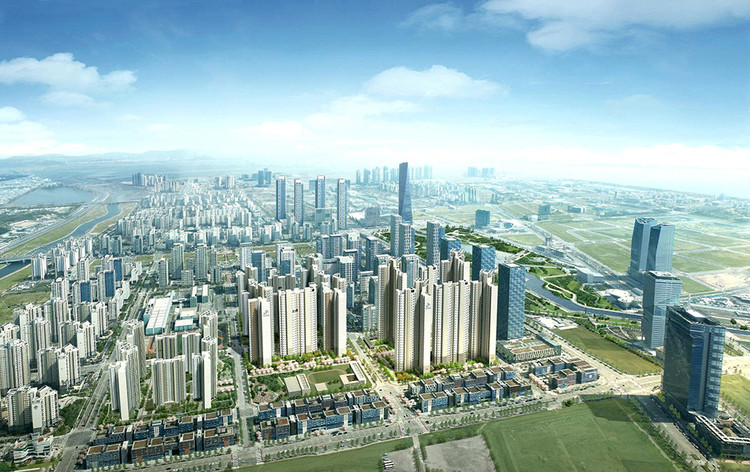 从智能手机到智慧城市,科技能给建筑界带来哪些改变?, Songdo in South Korea is perhaps the most complete realization yet of the smart city concept. Image Courtesy of Cisco