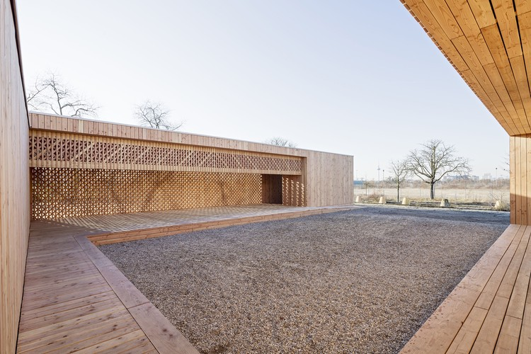 SHORTLISTED: Spinelli Refugee Housing Community Center, Mannheim / Kaiserslautern University Department of Architecture . Image © Yannick Wegner, Mannheim