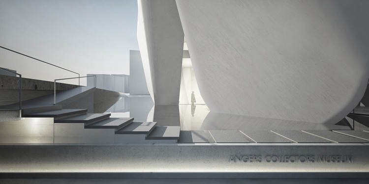 A series of reflecting pools reference the river that historically consumed the site. 图片致谢 Steven Holl