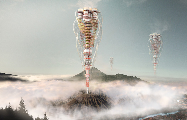 2018 eVolo 摩天楼竞赛获奖方案公布!, Volcanic Tower. Image Courtesy of eVolo