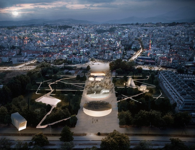 Anagram为希腊设计了一个城市文化公园, Urban Theater. Image Courtesy of Anagram Architecture & Urbanism