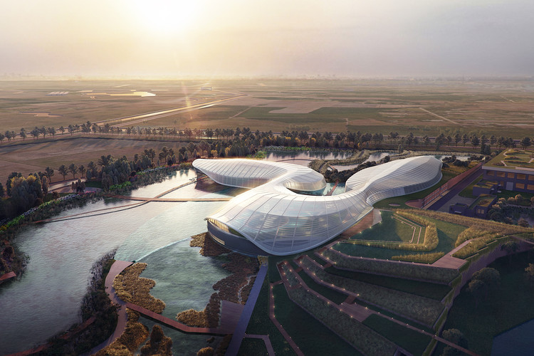 Ennead 赢长江口中华鲟自然保护区国际竞赛, Shanghai Yangtze River Estuary Chinese Sturgeon Nature Preserve. Image Courtesy of Ennead Architects