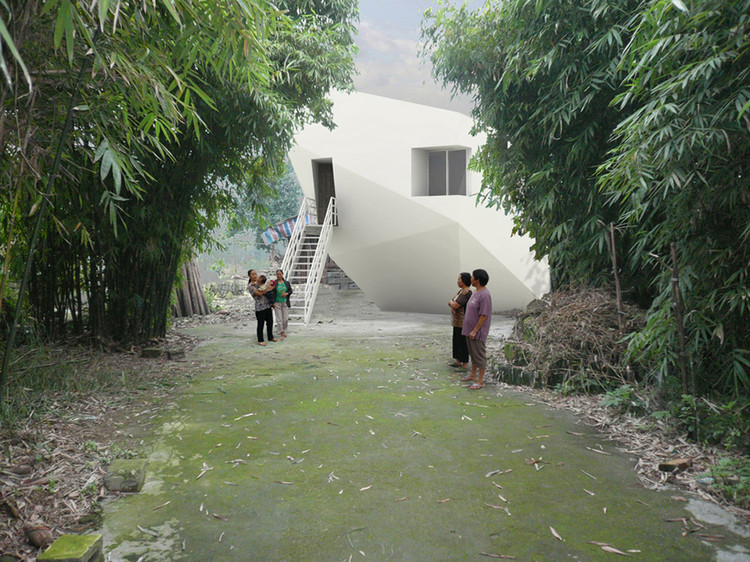 "费菁、傅刚:""我们希望享受工作,享受战斗"", Quake Projects, Minle Houses, Mianzh. Image © Renhe Architecture"