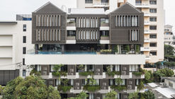 曼谷混合型住宅 TRYP,叠加的'垂直森林' / Somdoon Architects