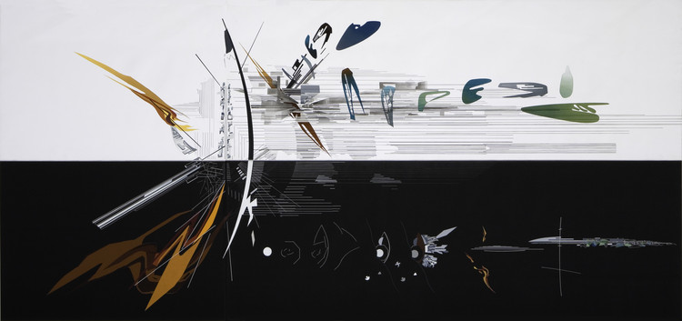 扎哈·哈迪德极具创造的绘画表达, Vision for Madrid - 1992. Image Cortesía de Zaha Hadid