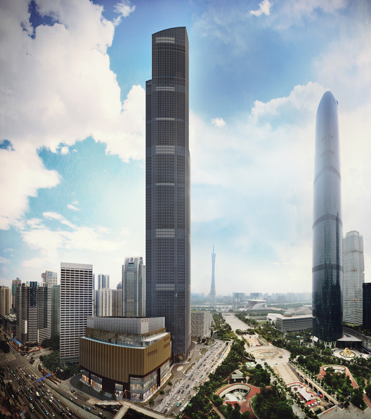 The Results Are In: 2016 Is a Record-Breaking Year for Tall Buildings, Guangzhou CTF Finance Centre. Image Courtesy of K11 New World Development