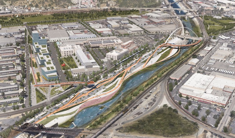 复兴洛杉矶河的七个提案, From the Los Angeles River Downtown Design Dialogue (City of Los Angeles, Bureau of Engineering). Used by Permission from WSP