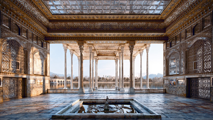 Noor 完成伊朗镜宫数字重建, Ayine Khaneh Palace. Image Courtesy of Noor Art & Architecture Studio