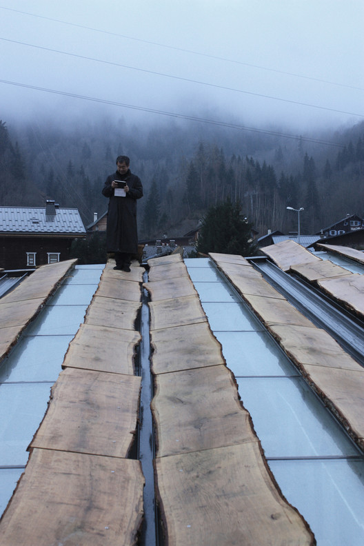21个隈研吾建筑项目,21种材料实验, Mont-Blanc Base Camp / Kengo Kuma & Associates. Image Courtesy of Kengo Kuma and Associates