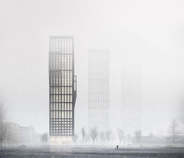 从视觉艺术到渲染,建筑可视化中的氛围, [Render] Mancunian Tower (Tim Groom Architects). Image Cortesía de Darcstudio