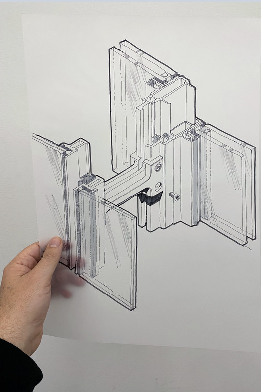 建筑网红 @the_donnies:细究建造细节, Isometric study of unitised curtain wall elements from The Shard. Image Cortesia de The Donnies